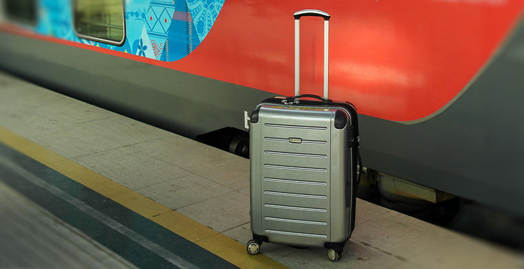 Transportation of hand luggage on trains.